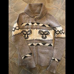 TNA sea to Sky zip up sweater